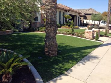 Artificial Grass Installation Mission Hills, California Landscape Photos, Front Yard Design artificial grass