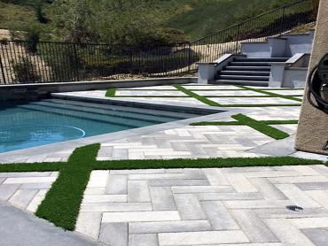 Artificial Grass Photos: Artificial Grass Montecito, California Landscape Photos, Above Ground Swimming Pool