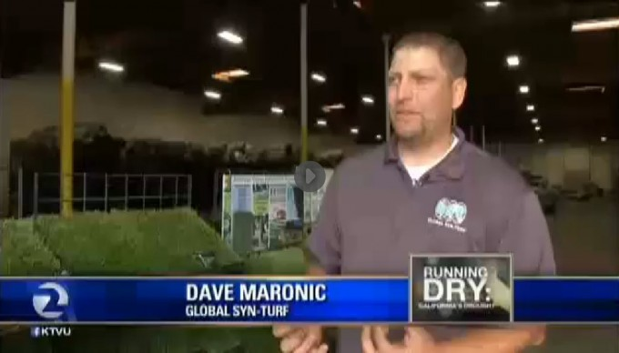 California Drought Salvation - Global Syn-Turf at San Francisco's Fox News artificial grass