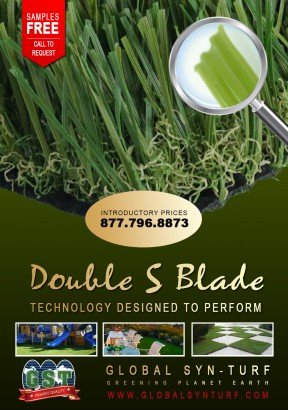 Global Syn-Turf Launches Premium Double S Blade Artificial Grass Technology artificial grass