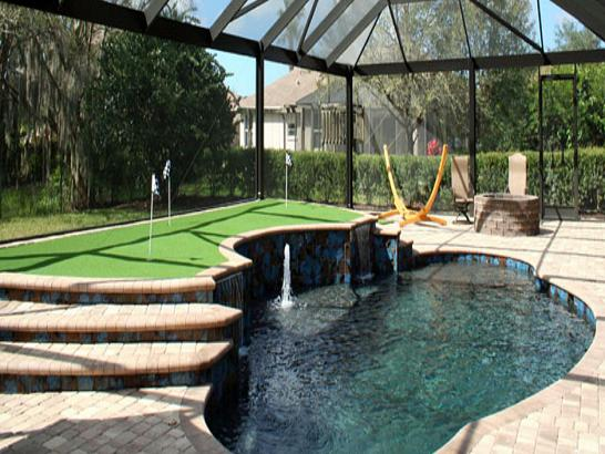 Artificial Grass Photos: Grass Installation Summerland, California Putting Green Flags, Backyard Makeover