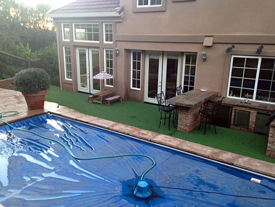 Artificial Grass Photos: Plastic Grass Garey, California Landscape Rock, Above Ground Swimming Pool